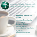 Vermont Catholic Professionals Virtual Event