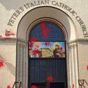 Se investiga como delito de odio el vandalismo en una parroquia italiana en Los Ángeles
