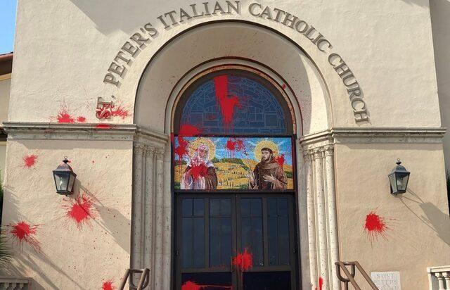 Vandalism at Italian parish near downtown LA investigated as hate crime