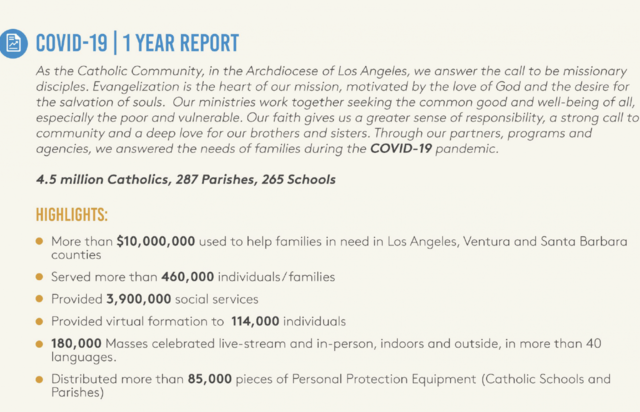Sintiendo (y viendo) el impacto católico en Los Ángeles