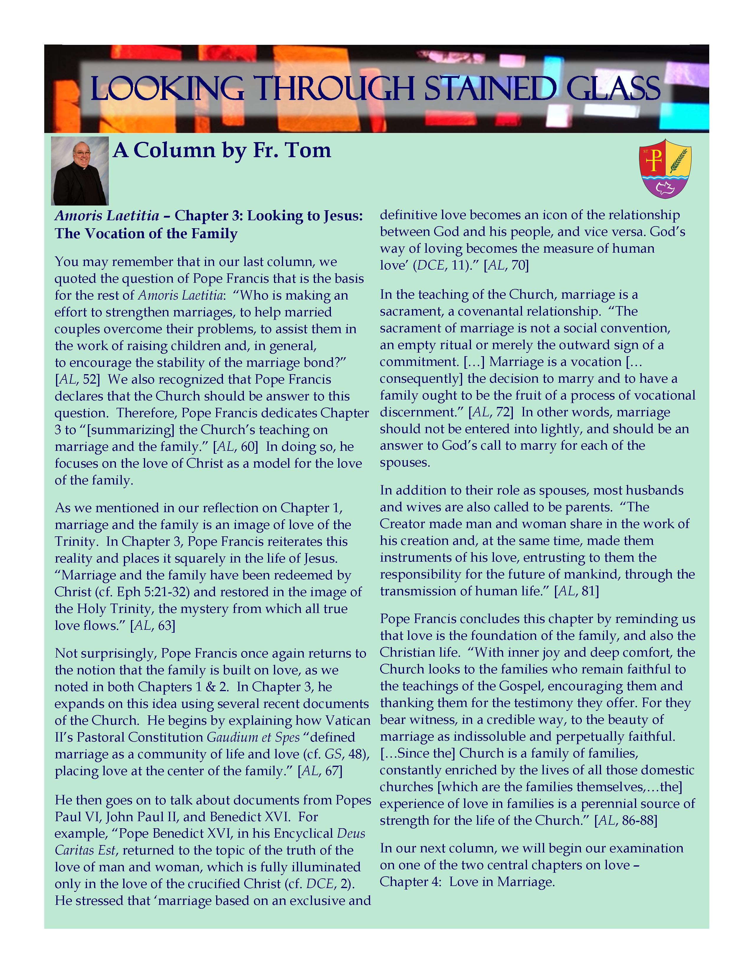Weekly Column