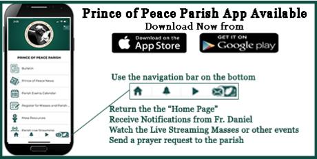 Prince of Peace Parish app logo and details