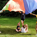 At St. Pius X's Summer Bible Camp, kids play on God's team
