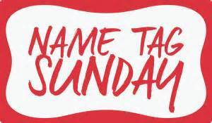Image result for name tag sunday