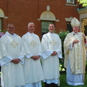 Bishop ordains three deacons